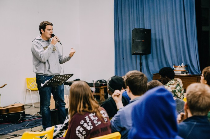 I had the opportunity to use my communication skills and give a message during one of the night sessions while on the mission trip. It was an awesome experience, speaking to an audience of very different cultures. PC: Reed Seely